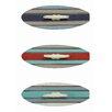 Creative Co-Op Waterside Surfboard Wall Hook (Set of 3)