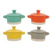 Creative Co-Op Urban Homestead Stoneware Mini Baker (Set of 4)