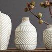 Creative Co-Op Palm and Fauna Terra Cotta Vase