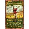 Vintage Signs Irish Golf Vintage Advertisement Plaque