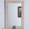 Bellaterra Home Travertine Stone Frame Mirror