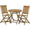 Royal Craft Acacia 2 Seater Bistro Set