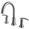 Ultra Faucets Contemporary Two Handle Deck Mount Roman Tub Faucet