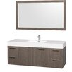 "Wyndham Collection Amare 60"" Single Bathroom Vanity Set with Mirror"