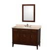 "Wyndham Collection Hatton 48"" Single Bathroom Vanity Set with Mirror"