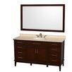 "Wyndham Collection Hatton 60"" Single Bathroom Vanity Set with Mirror"