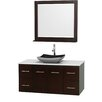 "Wyndham Collection Centra 48"" Single Bathroom Vanity Set with Mirror"