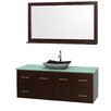 "Wyndham Collection Centra 60"" Single Bathroom Vanity Set with Mirror"