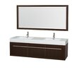 "Wyndham Collection Axa 72"" Double Bathroom Vanity Set with Mirror"
