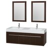 "Wyndham Collection Axa 60"" Double Bathroom Vanity Set"