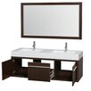 "Wyndham Collection Axa 60"" Double Bathroom Vanity Set with Mirror"