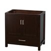 "Wyndham Collection Sheffield 36"" Single Bathroom Vanity Base"