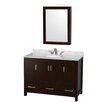 "Wyndham Collection Sheffield 48"" Single Bathroom Vanity Set with Mirror"