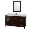 "Wyndham Collection Sheffield 60"" Single Bathroom Vanity Set with Mirror"