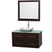 "Wyndham Collection Centra 42"" Single Bathroom Vanity Set with Mirror"