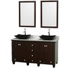 "Wyndham Collection Acclaim 60"" Double Bathroom Vanity Set with Mirror"