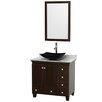 "Wyndham Collection Acclaim 36"" Single Bathroom Vanity Set with Mirror"
