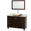"Wyndham Collection Acclaim 48"" Single Bathroom Vanity Set with Mirror"