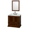 "Wyndham Collection Rochester 38"" Single Bathroom Vanity Set with Mirror"