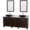 "Wyndham Collection Acclaim 80"" Double Bathroom Vanity Set with Mirror"