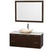 "Wyndham Collection Amare 48"" Single Bathroom Vanity Set with Mirror"
