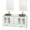 """Wyndham Collection Lucy Altair 72"""" Double Bathroom Vanity Set with Mirror"""