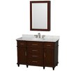 "Wyndham Collection Berkeley 48"" Single Bathroom Vanity Set with Mirror"