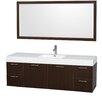 "Wyndham Collection Amare 72"" Single Bathroom Vanity Set with Mirror"