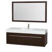"Wyndham Collection Axa 60"" Single Bathroom Vanity Set with Mirror"