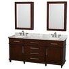 "Wyndham Collection Berkeley 72"" Double Bathroom Vanity"