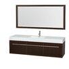 "Wyndham Collection Axa 72"" Single Bathroom Vanity Set with Mirror"