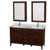 "Wyndham Collection Hatton 60"" Double Bathroom Vanity Set with Mirror"