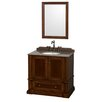 "Wyndham Collection Rochester 37.5"" Single Bathroom Vanity Set with Mirror"