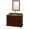 "Wyndham Collection Rochester 49.5"" Single Bathroom Vanity Set with Mirror"