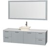 "Wyndham Collection Amare 72"" Single Bathroom Vanity Set with Mirror"