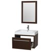 "Wyndham Collection Axa 30"" Single Bathroom Vanity Set with Mirror"