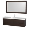 "Wyndham Collection Murano 60"" Single Bathroom Vanity with Mirror"