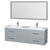 "Wyndham Collection Olivia 72"" Double Bathroom Vanity Set with Mirror"
