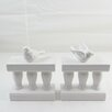 Firefly Home Collection 2 Piece Bird Book Ends Set