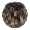 Firefly Home Collection Mosaic Glass Votive