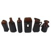 Firefly Home Collection 6 Piece Ceramic Vase Set