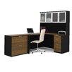 Bestar Pro-Concept 2 Piece L-Shaped Desk Office Suite