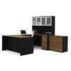 Bestar Pro-Concept 2 Piece U-Shaped Desk Office Suite
