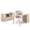 Bestar I3 2 Piece U-Shape Desk Office Suite