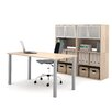 Bestar I3 2 Piece Standard Desk Office Suite