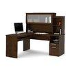 Bestar Dayton Credenza Desk with File