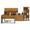 Bestar Executive 3 Piece U-Shaped Desk Office Suite