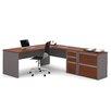 Bestar Connexion 2 Piece L-shaped Desk Office Suite