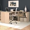 "Bestar I3 29.75"" Writing Desk with Storage Unit"