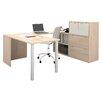 Bestar I3 Executive Desk with File Cabinet
